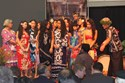 All the Asia Pacific Island groups gathered on stage for the opening ceremony...Colorful!!!