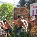 APCC Luau - The boys from Tautua performing the fierce and intense Maori Haka.