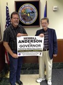 Merrill Anderson and Mark Anderson in Minnesota Secretary of State's Office on the day of filing for Governor and Lieutenant Governor  Father & Son team of Military Veterans who know how to get things done!