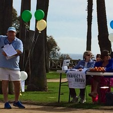 In Palisades Park drumming up signatures to stop the Hines Project.