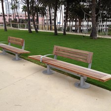 The Tongva Park benches are lovely.