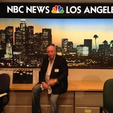 At NBC news ready for an interview.