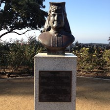 This statue of Arcadia Bandini de Stearns Baker sits in Palisades Park.She is the
