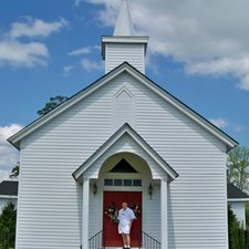 A small family church in North Carolina. Generations of my ancestors are buried in the church graveyard. My father was the first to really break away from the past. He met my mother in Palisades Park and stayed here.