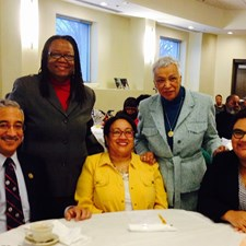 2015 C. Waldo Scott Center Scholarship Breakfast - the center is named for Marcia's grandfather who was a renowned surgeon and community activist. Marcia is pictured with Congressman Bobby Scott, State Senator Mamie Locke, First Lady Valerie Price, and Delegate Mamye BaCote