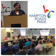 I gave remarks at the April membership meeting for Hampton Roads Pride as their