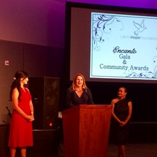 Speaking at the Ecanto Awards put on by the Latino Hope Foundation.