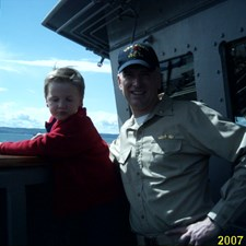 Giving my younger son, Maximilian, a tour of FORD before we deployed in 2007