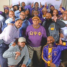 An important part of Andrew's life is his involvement since college with Omega Psi Phi. Here are some of the Bruhs clowning around.