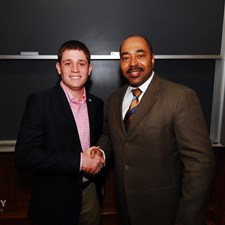 Andrew meeting with the Wash U Republicans.