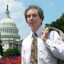 Citizen Smith on a volunteer lobbying trip to our nation's capital for good, green jobs (2009).