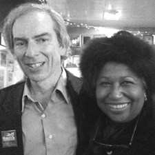 Jeff, reunited with Carol Moseley Braun, for whom he campaigned in Evanston in her historic 1992 Senate victory (2010).