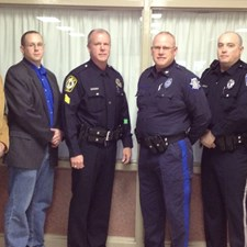 Matt with York County police officers at a concealed carry seminar in the York area.