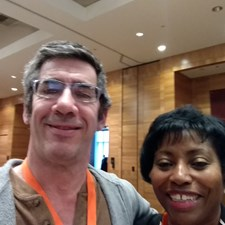 Eric with Karine Apollo, CEO of Reading Partners.