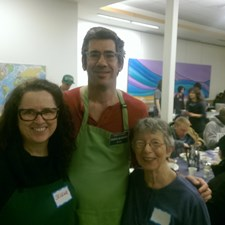 With Selena and Jean at Shared Breakfast.